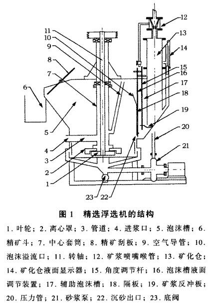 精选浮选机的结构